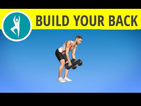 Upper back exercises with dumbbells -- weights workout for middle back, biceps and lats