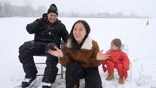 Ra DÒNG SÔNG ĐÓNG BĂNG Uống Cà Phê Và Nặn Người Tuyết- Trượt BA TE trên sông băng