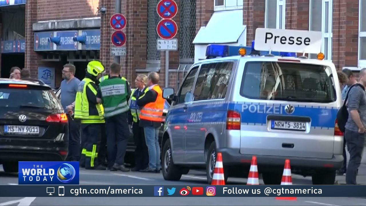 01f3045592 Germany seeks motive after van crashes into crowd in Muenster - YouTube