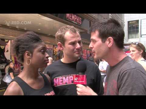 """""""Memphis"""" The Musical -Interview w/ Chad & Montego at Shubert Alley"""