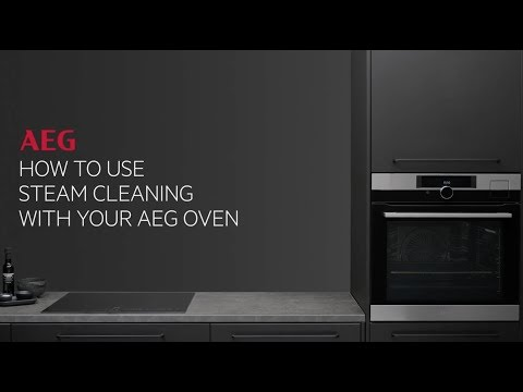 How to use steam cleaning with your AEG oven