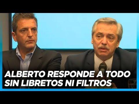 Ejemplar conferencia de Alberto ante la prensa de Córdoba