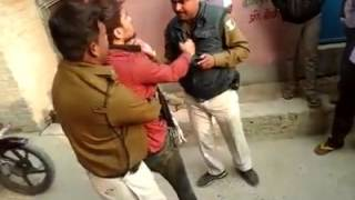 bihar police and public fight