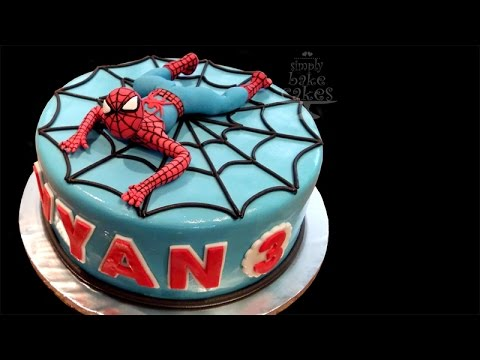 how to make a spiderman cake youtube. Black Bedroom Furniture Sets. Home Design Ideas