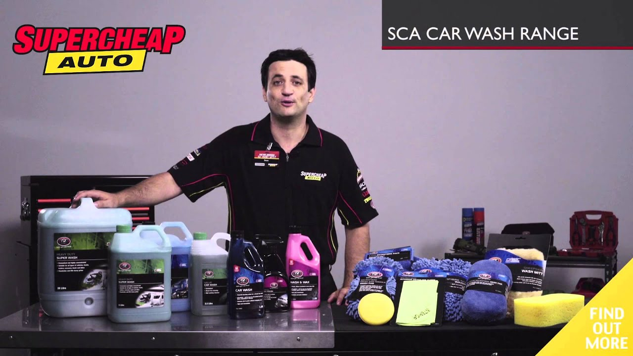 SCA Car Wash Range // Supercheap Auto