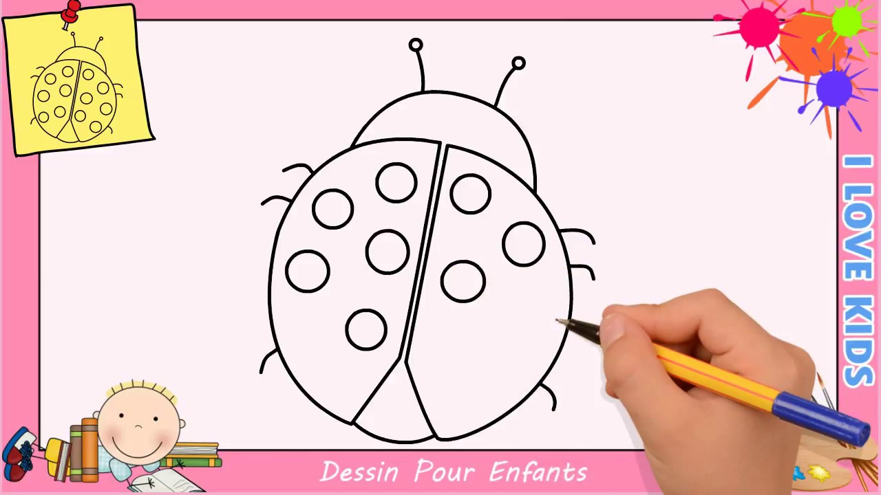 dessin coccinelle facile etape par etape comment dessiner une coccinelle 1 youtube. Black Bedroom Furniture Sets. Home Design Ideas