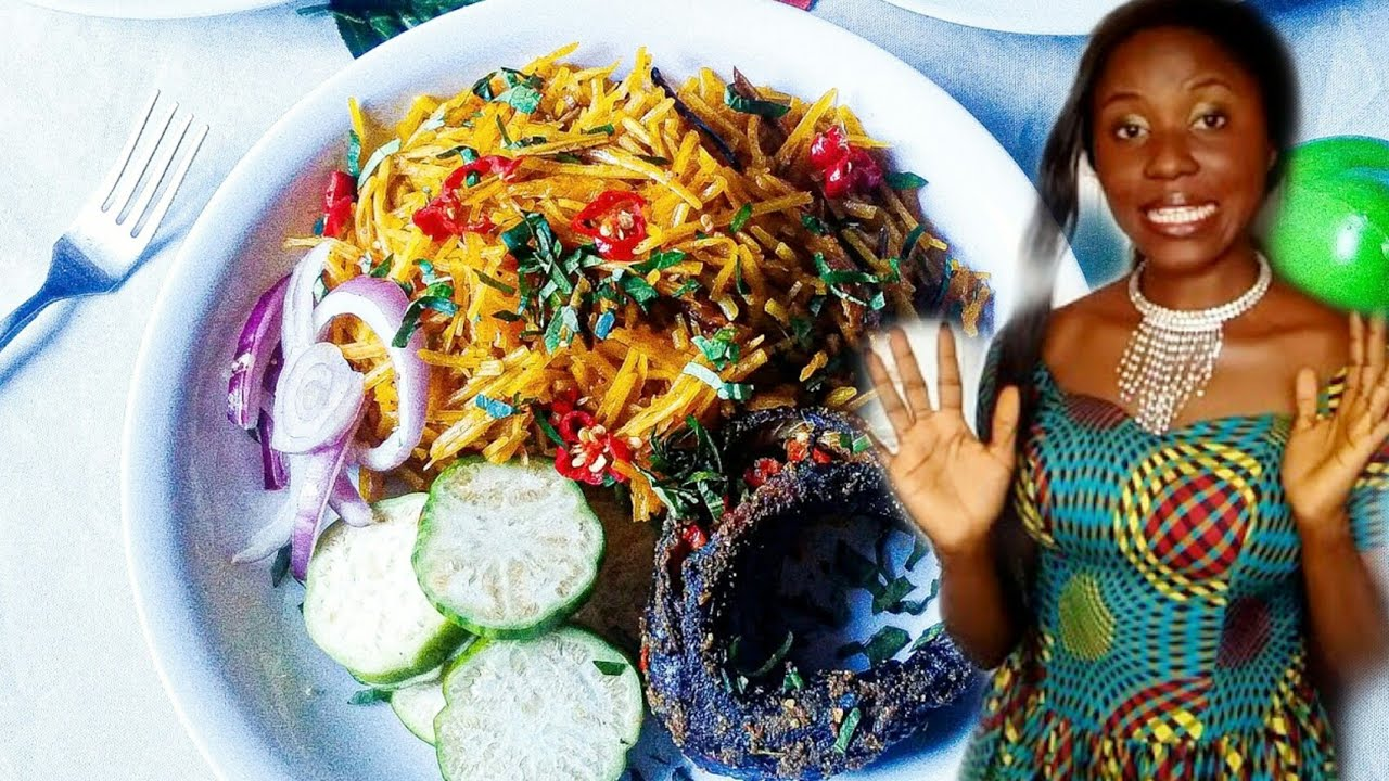 How to make African Salad (Abacha) || African salad Recipes