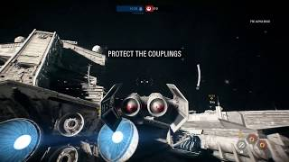 Your first look at a full match of the space dog-fight mode and the unique hero and villain ships involved.  Everything You Missed In the Star Wars Battlefront 2 Multiplayer Reveal Trailer https://www