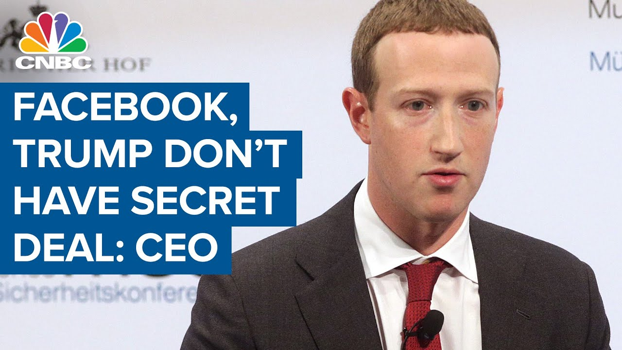 CEO Mark Zuckerberg: Facebook doesn't have a secret deal with President  Donald Trump - YouTube