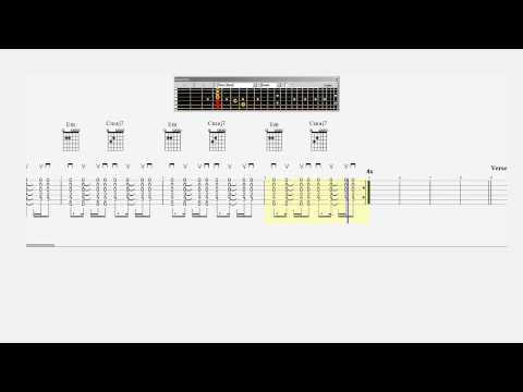 Guitar Chord Practice - Dido - Thank You - Slow - Tab