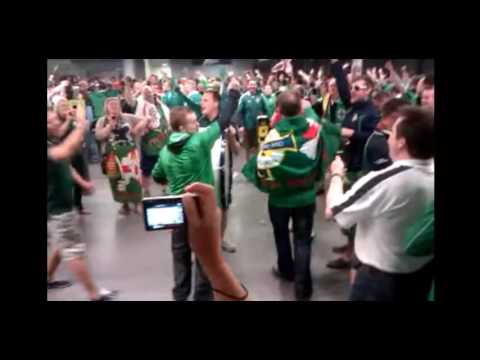 Northern Irish Fans Sing The RAF of Ulster Song Underground