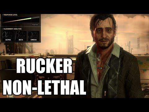 Deus Ex: Mankind Divided  Talos Rucker Debate  NonLethal
