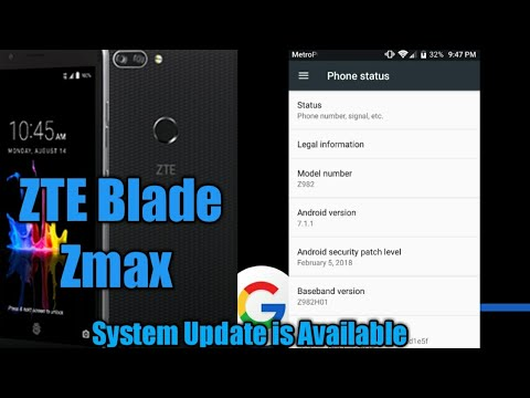 ZTE Blade Zmax System Update is Available