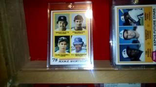 Memorabilia and hof rookie cards.