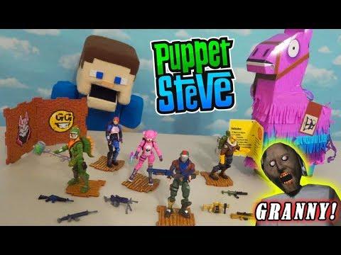 FORTNITE Toys LLAMA Drama Loot Pinata Figures W/GRANNY! Squad Mode Jazwares