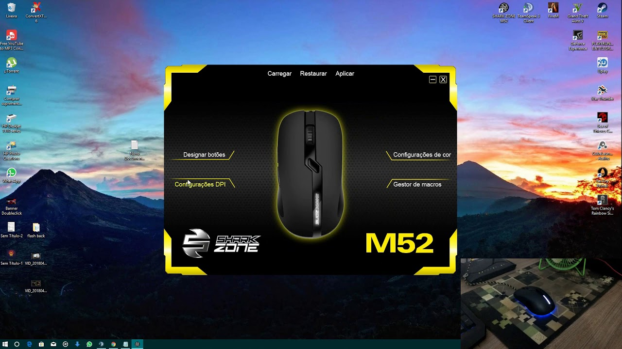 Unboxing Mouse Gamer Sharkoon Shark Zone M52 8 200 DPI