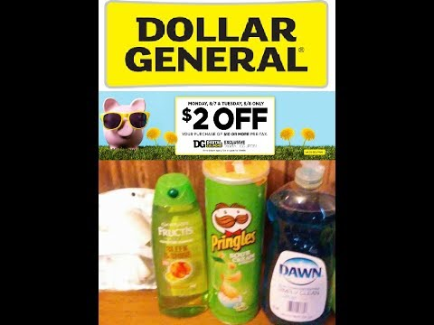 12 Items for $0.35! Dollar General! $2 off $10