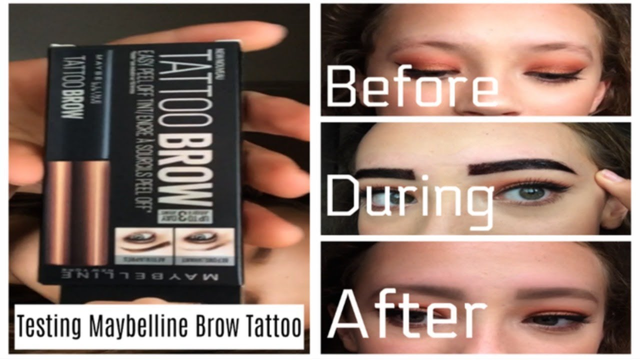 Testing maybelline brow tattoo 3 day tint youtube for Maybelline tattoo brow tint