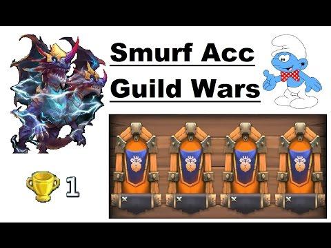 Toughest GW Hero So Far? Strongest Guild Wars Smurf Base Yet Castle Clash Lietuva 1.12.2016
