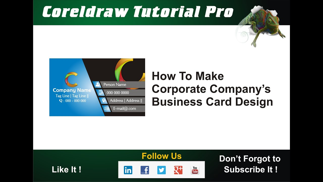 How to Make Business card Design Coreldraw Tutorial Pro - YouTube