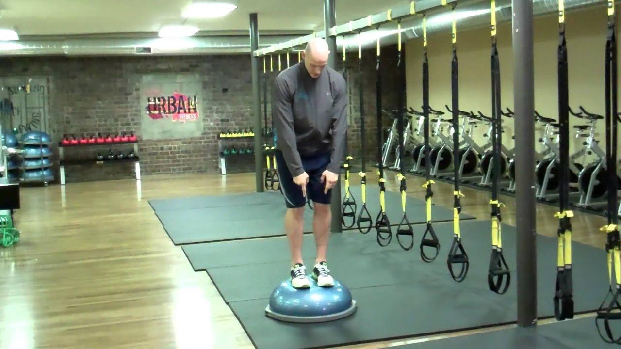 My Favorite BOSU Balance Trainer Exercises; Squat with