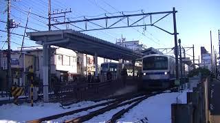 西武鉄道249F(伊豆箱根色) 萩山行 一橋学園発車