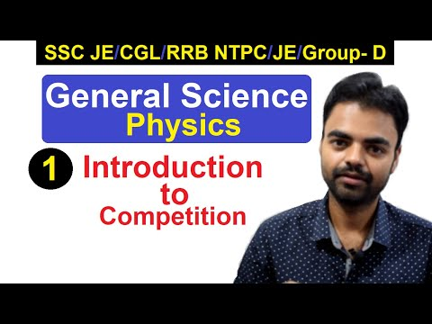 General Science(Physics):  Introduction Class- 1 RRB JE 2019 Classes