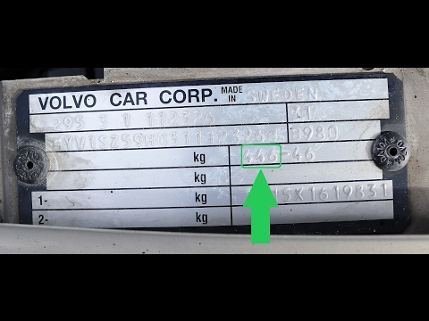 How To Find Your VOLVO Paint Code