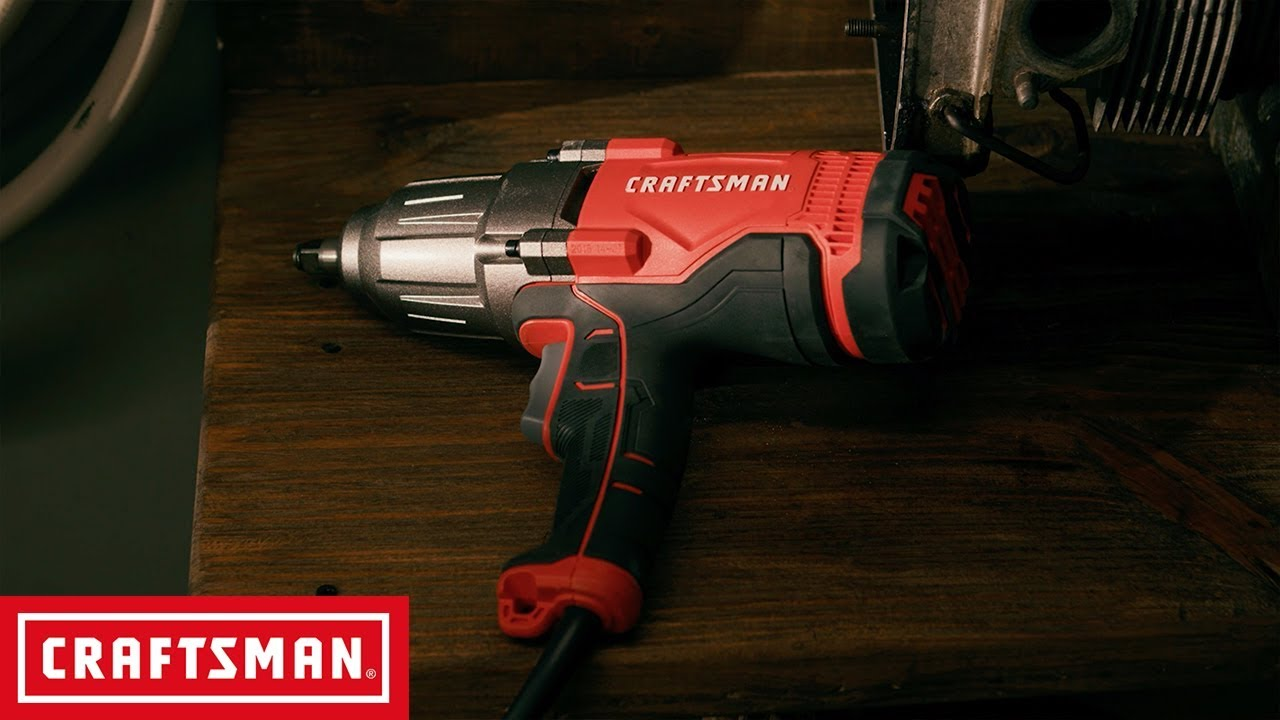 Craftsman 7 5 Amp 1 2 In Corded Impact Wrench Kit Tool Overview