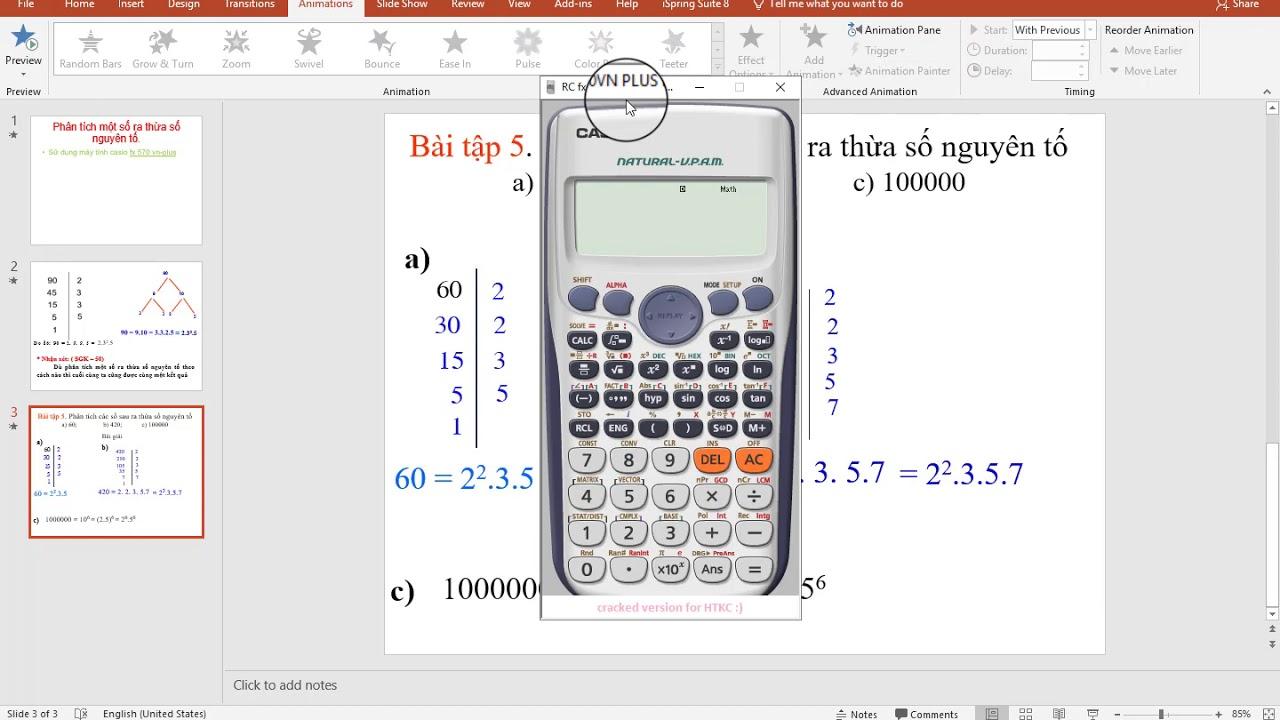 phân tích ra thừa số nguyên tố