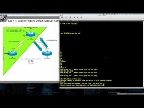 CCNP ROUTEv7 Lab 1-1: Basic RIPng & Default Gatway Configuration Tutorial