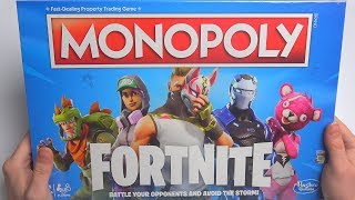 NEW FORTNITE BATTLE ROYAL BOARD GAME UNBOXING | Fortnite Monopoly