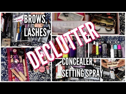 DECLUTTER & ORGANIZE MAKEUP: LASHES, BROWS, CONCEALER