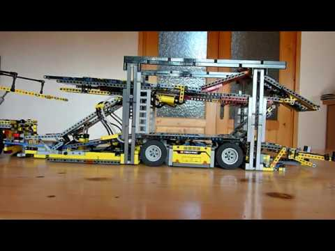 camion porte voitures lego youtube. Black Bedroom Furniture Sets. Home Design Ideas