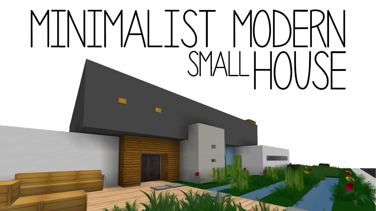 Photo collection minecraft minimal modern house for Minimalist house wallpaper