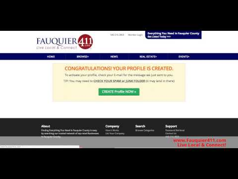 How To Claim Your Free Business Listing On Fauquier 411