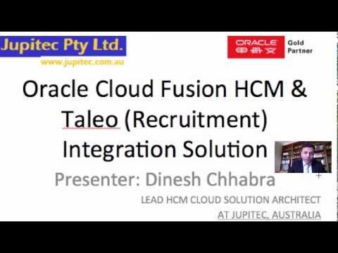 FUSION CLOUD HCM & TALEO - INTEGRATION SOLUTION (IMPLEMENTATION WORKSHOP)