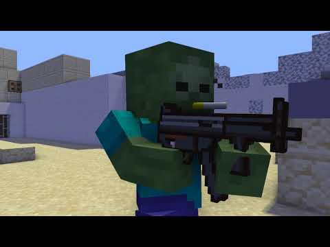 Minecraft Animation Players Vs Mobs Counter Strike D_dust2