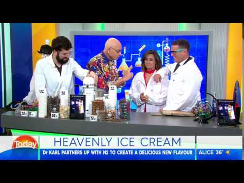 Doctor Karl whips up instant ice cream