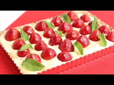 Lemon Curd Strawberry Tart Recipe - Laura Vitale - Laura in the Kitchen Episode 792