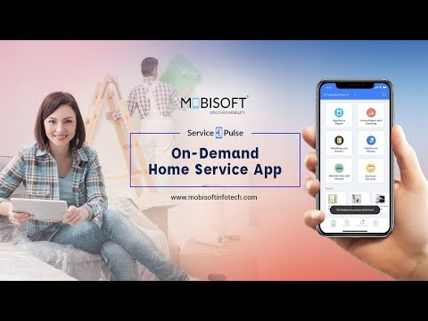 On Demand Home Services And Handyman App Solution - Service Pulse (2018)