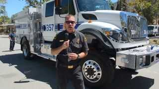 asc 7773 kcfd chief brian marshall introduces new fire engine 57 for frazier park