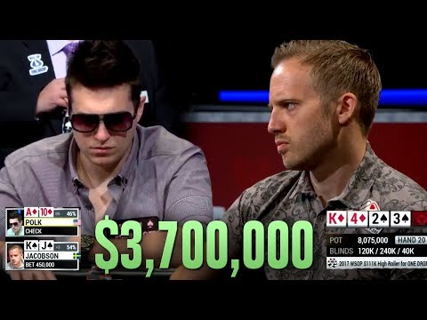 THIS Is Why You Take Risks In Poker - WSOP $3.7 Million One Drop