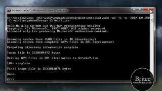 How To Create a Bootable ISO and DVD from downloaded Windows 7 files by Britec