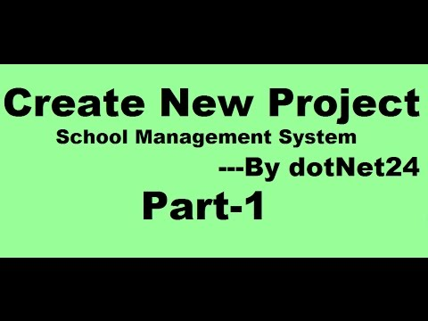 Create New Project In Visual Studio With C School Management