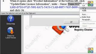 Clean My Pc Registry Cleaner 4.2x SERIAL KEY