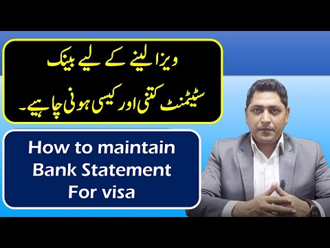 How To Maintain Bank Statement For Visa|Bank Account Transaction For Visa