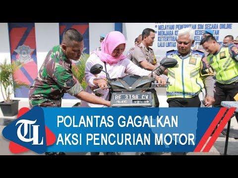 Polantas Gagalkan Pencurian Motor | Tribun Lampung News Video