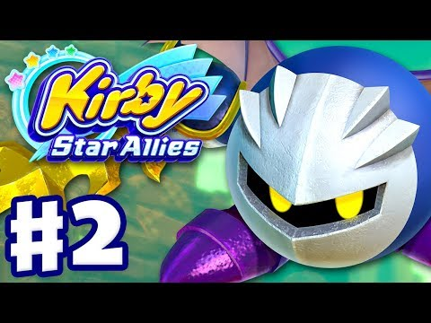 Kirby Star Allies - Gameplay Walkthrough Part 2 - Planet Popstar 100% Meta Knight! (Nintendo Switch)