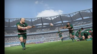 Rugby 18 Gameplay (Sideline View) & Modes (League, Career) - E3 2017